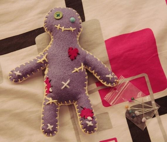 Purple Revenge Voodoo Doll (with pins)