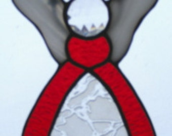 Stained Glass Angel - Red