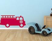 Fire Truck Wall Decal - Firetruck Child Decor