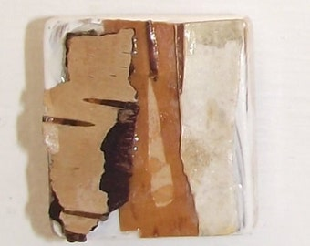Assemblage of Mini Birch Bark Collages