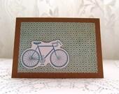Handmade Blank Racer Bike Card. Fixie Bike.