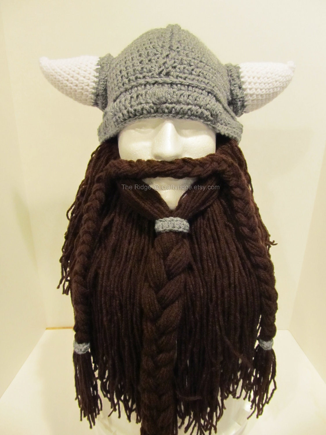 Crochet Viking Hat With Beard : Bearded Viking Hat by CraftyRidge on Etsy