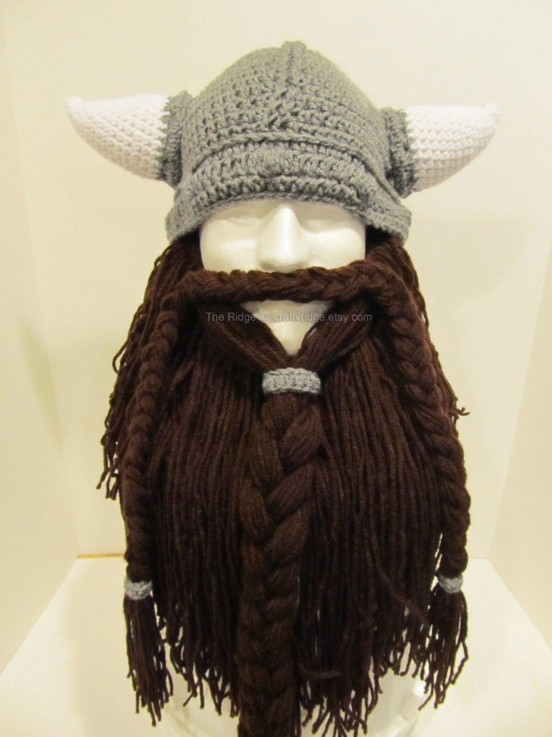Crochet Viking Hat And Beard Pattern : Bearded Viking Hat