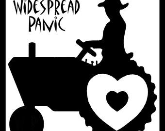 "Widespread Panic Sticker ""Love Tractor"""