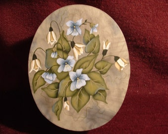 Handpainted Flowered Keepsake Box
