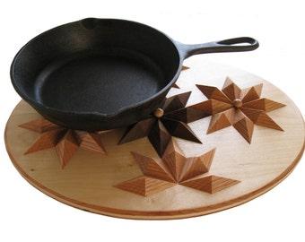 Oval  Wood Hot Pad.  Wooden kitchen trivet, centerpiece or wall art. Woodwork decor