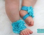 YOU CHOOSE COLOR - Baby Barefoot Sandal- Newborn,Infant and Toddler- Toe Blooms