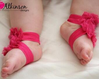 Fuschia Baby Barefoot Sandals