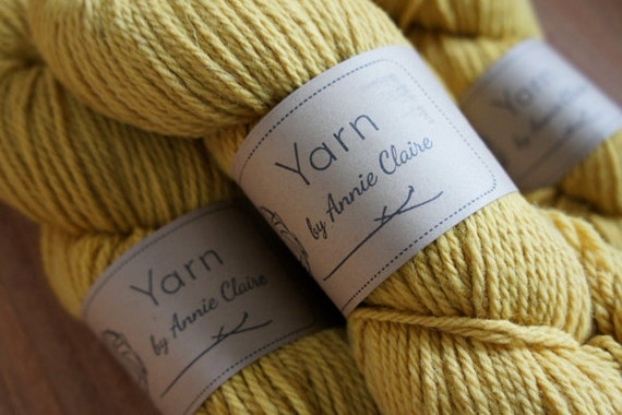 Organic Naturally Dyed Worsted Weight Yarn : Sage Brush