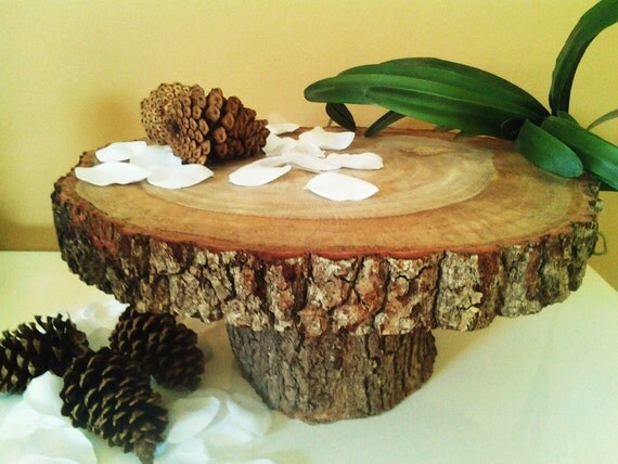 "CUSTOM RESERVED LISTING (for Megan)  16""   Oak tree trunk cake stand"