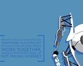 Portal 2 Atlas Poster