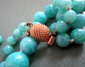 Vintage Marvella Faux Jade Glass Beads