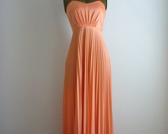 Vintage 1970's Dreamsicle Gown