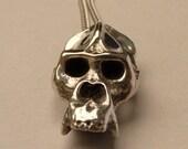 Gorilla Skull Necklace in polished Pewter