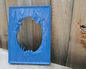 """Fantastic Vintage Mirror """"Blue Meadow"""""""