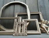 "Frame Set Collection Gallery Wall Mirror Gold ""Golden Afternoon VI"""