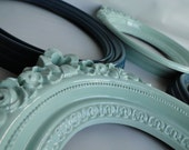 """Oval Frame mirror set collection gallery wall aqua teal turquoise mint white """"Orbit"""""""