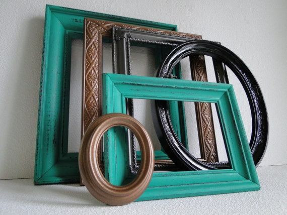Upcycled Frame Set Collection Home Decor Set Gallery Wall Set