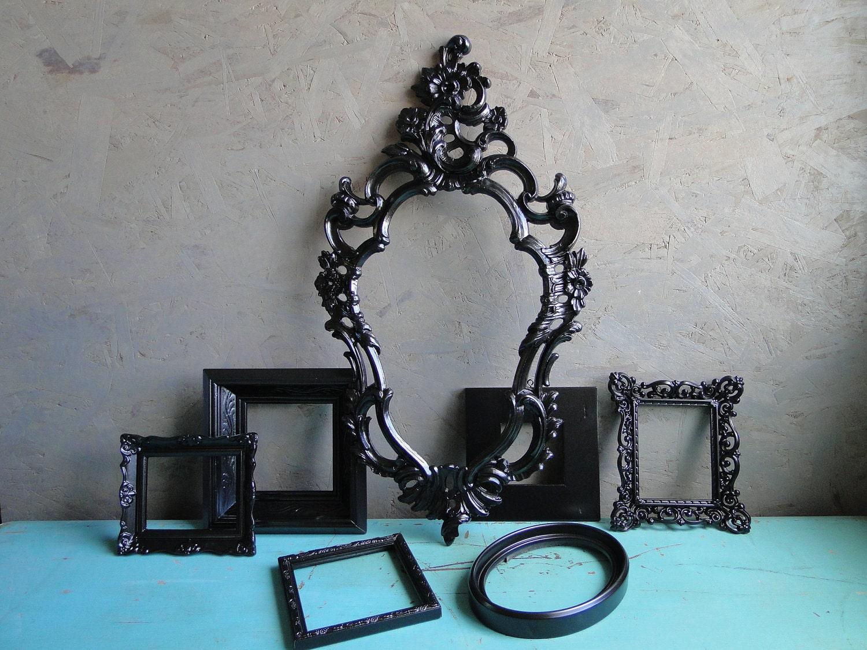 Vintage Framed Mirror Set Collection Home Decor Set Gallery