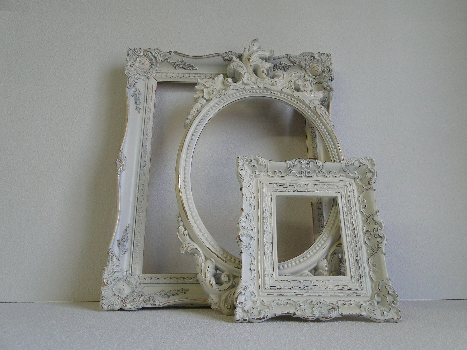 Large Ornate Frame Collection Set Gallery Wall Distressed