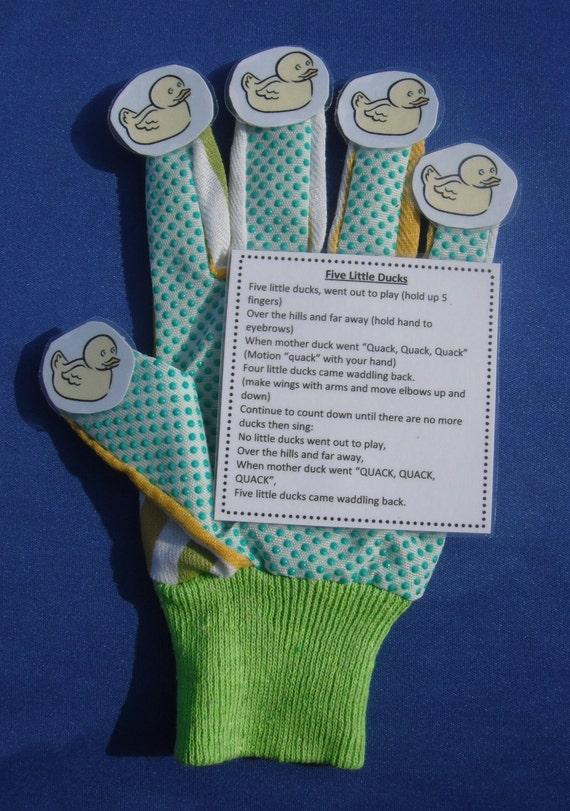 5 Little Ducks Glove Hand Finger Play