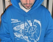 Star Wars millenium falcon L  XL or rebel allince XL or Ghostbusters graphic hoodie gray M