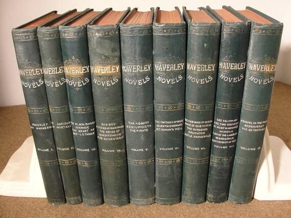 Waverley Novels Collier 9 Volume Set Waverley Novels
