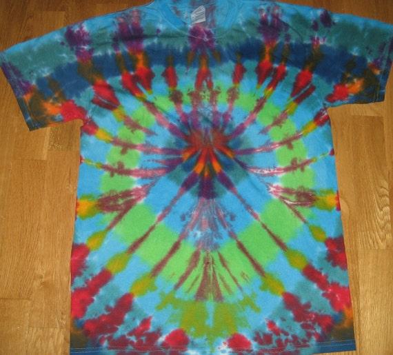 Tie Dye T Shirt Adult Medium Spider