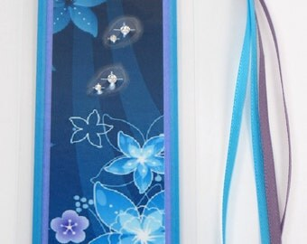 Blue and Purple Flowers Laminated Bookmark