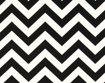 Black and White Chevron Zig Zag Curtains  Rod Pocket  63 72 84 90 96 108 or 120 Long by 24 or 50 Wide
