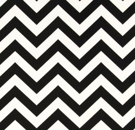 "Pair of Black and White Zig Zag Chevron Curtains Drapes 50"" x 63 72 84 90 96 108 120"