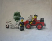 Busted, Giclee Print, Lego Speeding Ticket