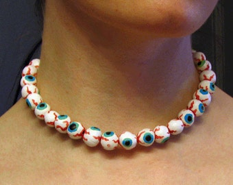 Eyeball Necklace - Blue