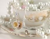 A cup of tea vintage earrings