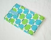 UNIKATE APPLE s Blue Green Handmade 2in1 Changing Pad Bag  Retro