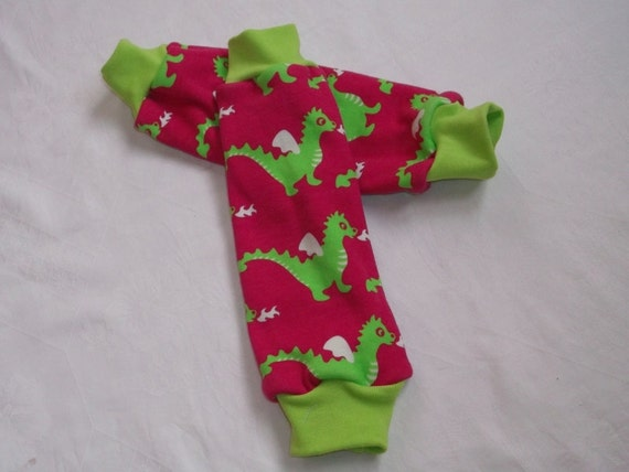 DRAGON Jersey Knit Legwarmers for Babies and Kids Sz 3Mth to 3Years
