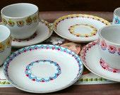 Upcycled vintage china tea cup & saucer set