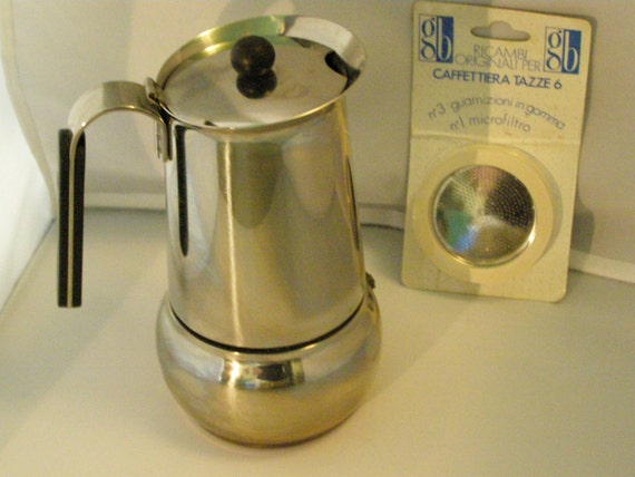Italian Coffee Maker Gb : MADE iN Italy Stainless Steel Guido Bergna GB Expresso