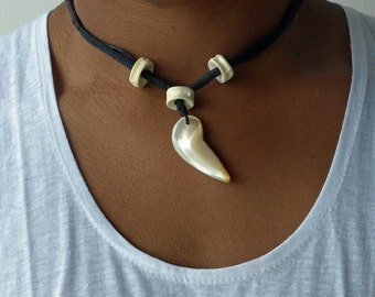 Tooth Necklace, Men's Necklace, Boho Men Necklace