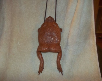 Real animal part skin taxidermy Frog Bag/Purse pouch hand made