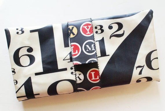 Cash Envelope System Wallet with laminated cotton (Cosmo Cricket Circa 1934 Chaplin Cream & Garbo Black)
