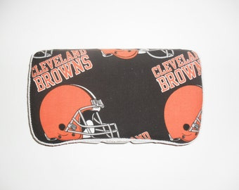 Black and Orange Cleveland Browns Baby Wipes Case