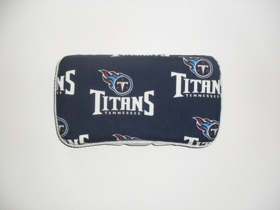 Navy Blue Tennessee Titans Baby Wipes Case