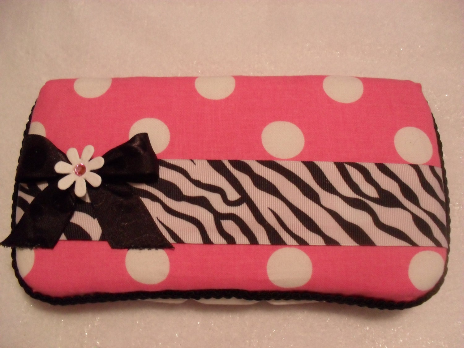 Pink And Zebra Stripes Baby Wipes Case