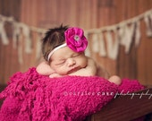 Infant Headband - Baby Headband - Newborn Headband - Hot Pink Headband - Baby Girl Headband - Baby Hair Accessories