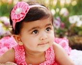 Baby Headband - Peach Baby Bow Headband - Baby Hair Accessories -  Infant Headbands - Newborn Headbands - Baby Hairbows