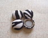 Zebra Stripes Fabric Covered Buttons - 3/4 inch