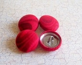 SHOP CLOSING SALE - Cinnamon Swirl Fabric Covered Buttons - 3/4 inch