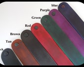 5 Leather Cuff Bracelet 1 to 1 1/4th inch Widths and 3 Lengths