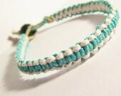 Turquoise White Hemp Bracelet